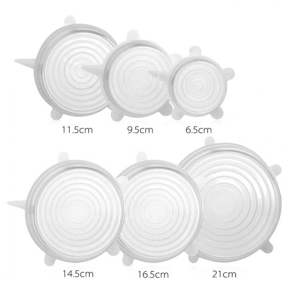 Набор силиконовых универсальных крышек – 6 шт.