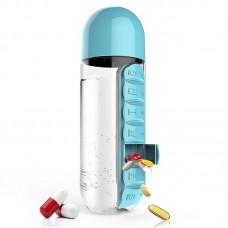Бутылка для воды с органайзером для таблеток Pill & Vitamin Organizer