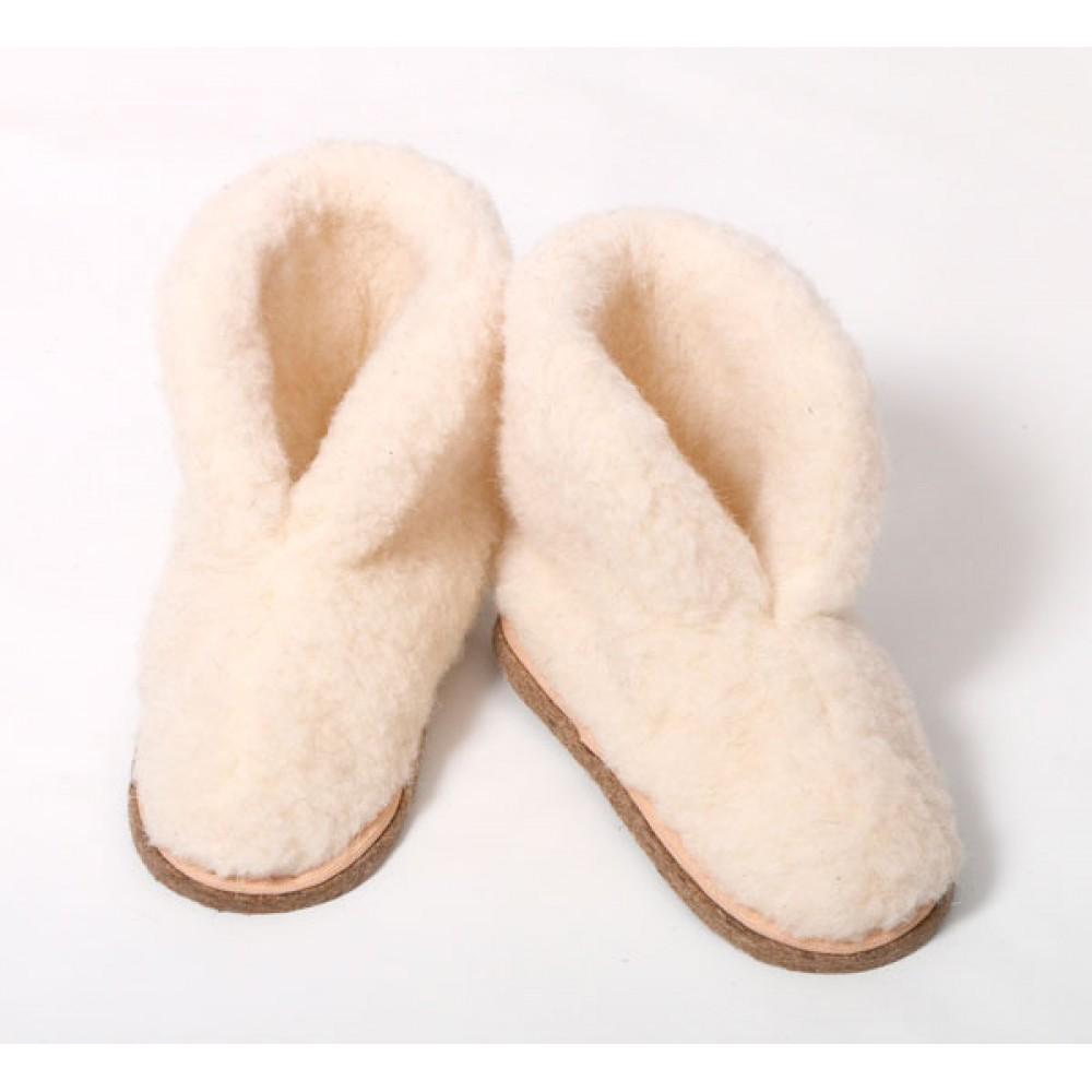 Бурки (ботинки) из овечьей шерсти
