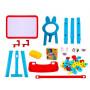 Мольберт детский двусторонний + набор аксессуаров для обучения и творчества