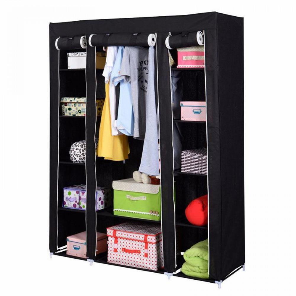 Портативный тканевый шкаф-органайзер для одежды