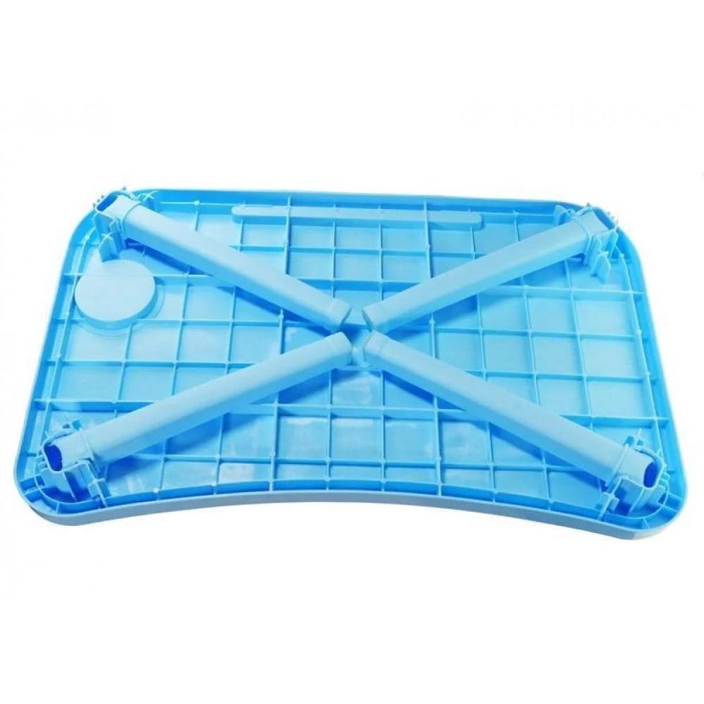 Столик складной для завтрака (голубой)