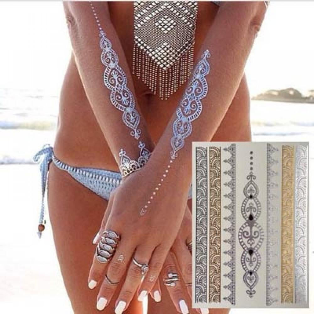 Флеш тату Shimmer (Metallic Jewelry Tattoos)