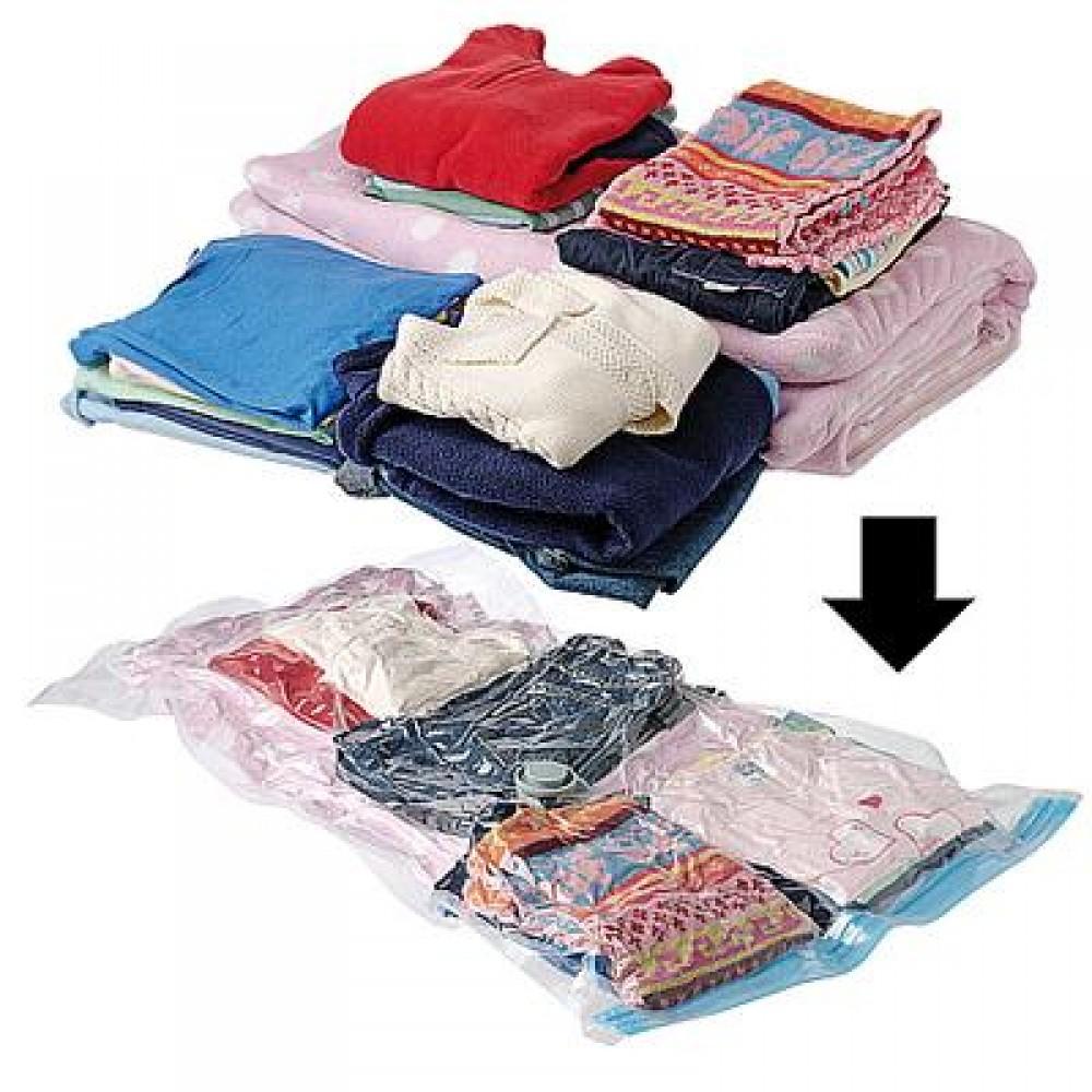Вакуумные мешки для одежды (с насосом, 10 шт.)